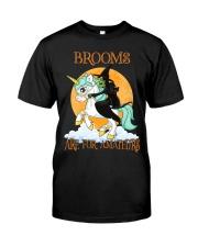 Black Cat Riding Witch Unicorn Classic T-Shirt thumbnail