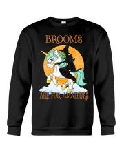 Black Cat Riding Witch Unicorn Crewneck Sweatshirt front