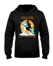 Black Cat Riding Witch Unicorn Hooded Sweatshirt thumbnail