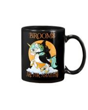 Black Cat Riding Witch Unicorn Mug thumbnail