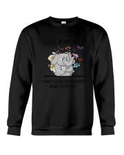 Coffee And Elephants Crewneck Sweatshirt thumbnail