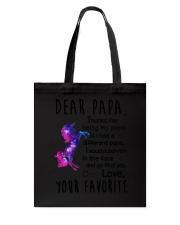 Dear Papa Unicorn Tote Bag thumbnail
