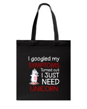 Unicorn Symptoms Tote Bag thumbnail