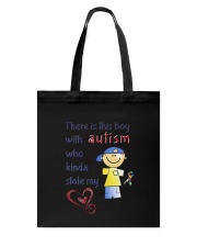 Autism Stole My Heart Tote Bag thumbnail