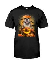 Bulldog And Pumpkin Classic T-Shirt front
