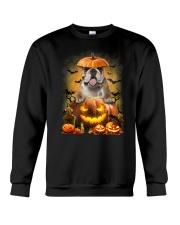 Bulldog And Pumpkin Crewneck Sweatshirt thumbnail