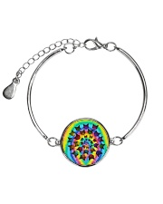 Cat Circle Color Metallic Circle Bracelet tile