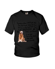 Grooviest Dad Golden Retriever Youth T-Shirt thumbnail