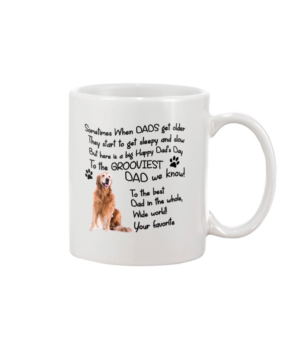 Grooviest Dad Golden Retriever Mug