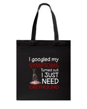 Greyhound Symptoms Tote Bag thumbnail