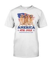 4th July Golden Retriever Classic T-Shirt front