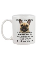 French Bulldog Mommy And Daddy Mug back