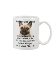French Bulldog Mommy And Daddy Mug front
