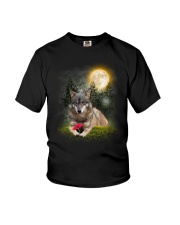Wolf Flower Youth T-Shirt thumbnail