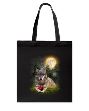 Wolf Flower Tote Bag thumbnail