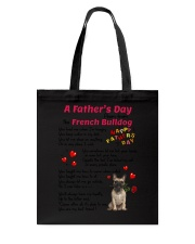 Poem From French Bulldog Tote Bag thumbnail