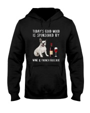 Good Mood Wine French Bulldog Hooded Sweatshirt thumbnail