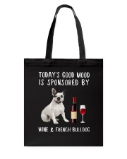 Good Mood Wine French Bulldog Tote Bag thumbnail