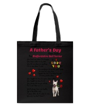 Poem From Staffordshire Bull Terrier Tote Bag thumbnail