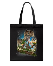 Owl Flower Tote Bag thumbnail