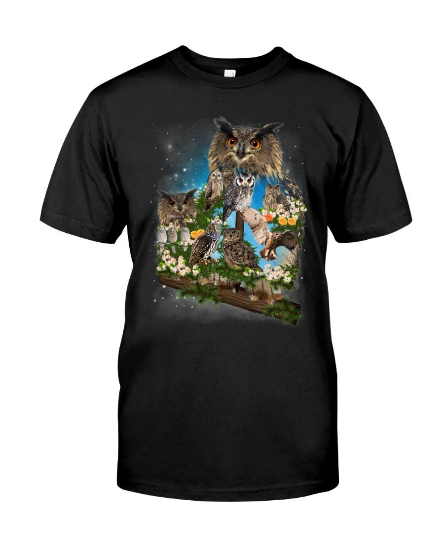 Owl Flower Classic T-Shirt