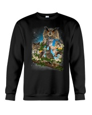Owl Flower Crewneck Sweatshirt thumbnail