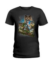 Owl Flower Ladies T-Shirt thumbnail