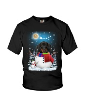 Dachshund Snowman Phoebe 018 Youth T-Shirt tile