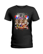 USA Beagle Ladies T-Shirt thumbnail