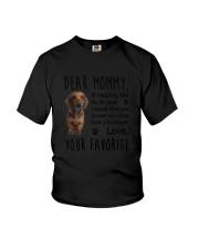 Dear Mommy Dachshund Youth T-Shirt thumbnail
