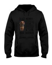 Dear Mommy Dachshund Hooded Sweatshirt thumbnail