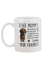 Dear Mommy Dachshund Mug back