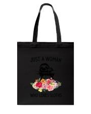 Just A Woman Sloth Tote Bag thumbnail