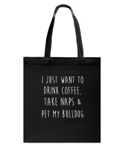 Pet My Bulldog Tote Bag thumbnail