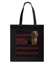 Dachshund Crazy Funny Tote Bag thumbnail