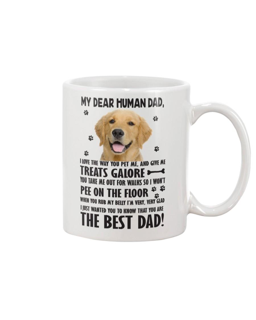 Human Dad Golden Retriever Mug