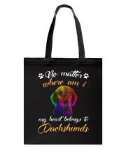 My Heart Belong To Dachshund Tote Bag thumbnail