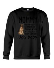 German Shepherd Ugly Baby Crewneck Sweatshirt thumbnail