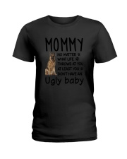 German Shepherd Ugly Baby Ladies T-Shirt thumbnail