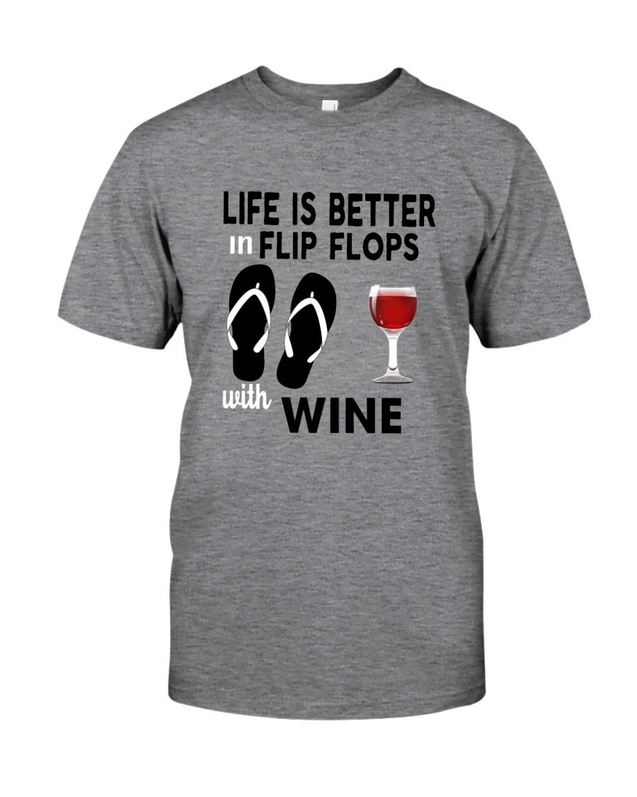 Flip Flops Wine Classic T-Shirt