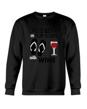Flip Flops Wine Crewneck Sweatshirt thumbnail