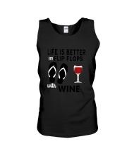 Flip Flops Wine Unisex Tank thumbnail