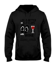 Flip Flops Wine Hooded Sweatshirt thumbnail
