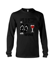 Flip Flops Wine Long Sleeve Tee thumbnail