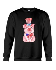 Independence Day Pig Crewneck Sweatshirt thumbnail