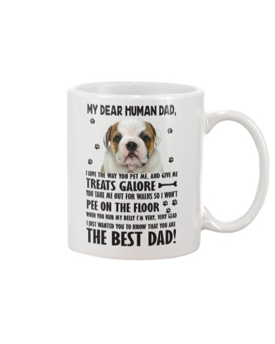 Human Dad Bulldog