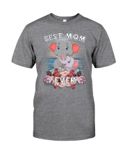 Elephant Best Mom Classic T-Shirt front
