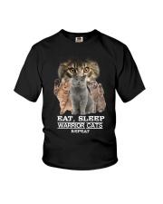 Phoebe - Cat Eat Sleep And Warrior - 104 Youth T-Shirt thumbnail