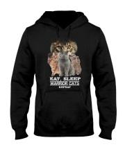 Phoebe - Cat Eat Sleep And Warrior - 104 Hooded Sweatshirt thumbnail