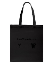 Boxer Simple Woman Tote Bag thumbnail